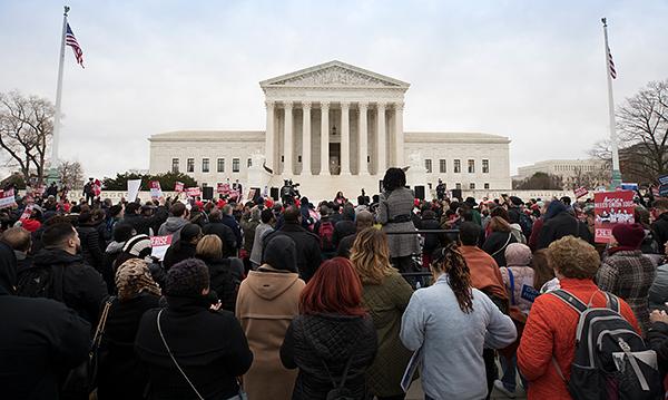Janus rally at Supreme Court